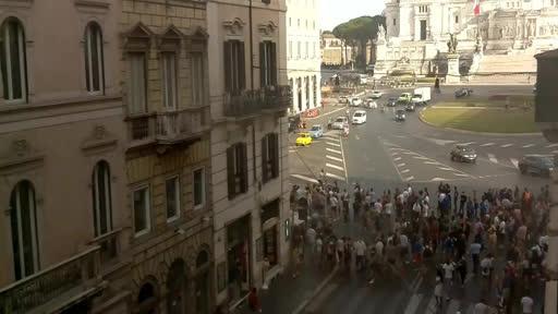 Folla in attesa della Nazionale